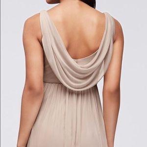 David's Bridal Mesh Bridesmaid Dress